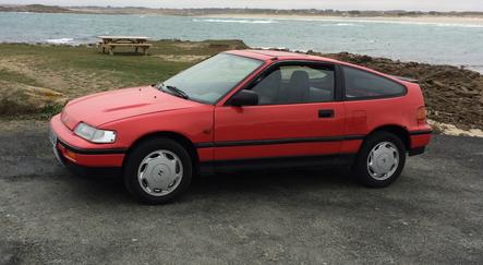 on 1993 Honda Prelude Silver